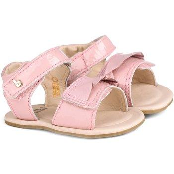 Pantofi Fete Sandale  Bibi Shoes Sandale Fetite Bibi Afeto Roz Cu Volan Roz