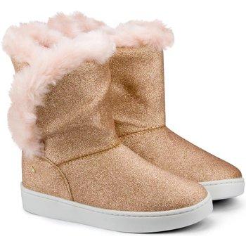 Pantofi Fete Cizme Bibi Shoes Cizme Fete Bibi Urban Cupru/Glitter Cu Detaliu Blanita Cupru