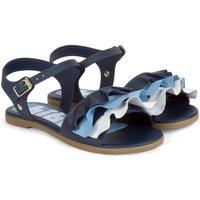 Pantofi Fete Sandale  Bibi Shoes Sandale Fete Bibi Fresh Naval Cu Volane Colorate Bleumarin