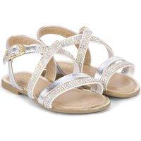 Pantofi Fete Sandale  Bibi Shoes Sandale Fete Miss Bibi Argintii Argintiu