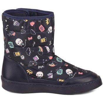 Pantofi Fete Cizme Bibi Shoes Cizme Fete Bibi Urban Naval Cu Imprimeu Bleumarin