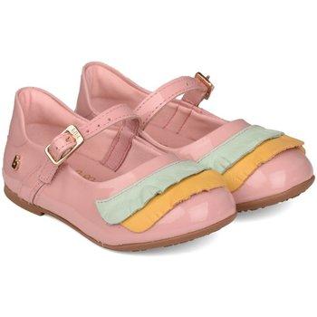 Pantofi Fete Pantofi sport Casual Bibi Shoes Balerini Anjos Mini Roz Cu Volane Roz