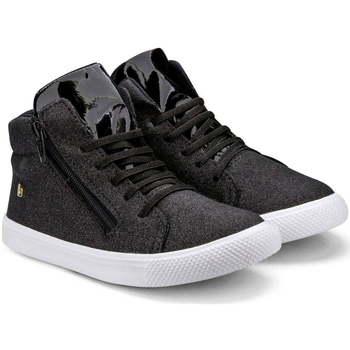 Pantofi Fete Ghete Bibi Shoes Ghete Fetite Bibi Agility Mini Glitter Negru Negru