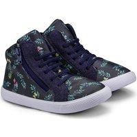 Pantofi Fete Ghete Bibi Shoes Ghete Fetite Bibi Agility Mini Naval Cu Imprimeu Bleumarin