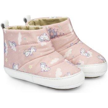Pantofi Fete Ghete Bibi Shoes Ghetute Fetite Bibi Afeto Sweet Cu Imprimeu Roz