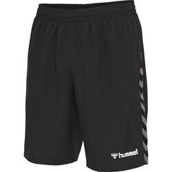 Îmbracaminte Bărbați Pantaloni scurti și Bermuda Hummel Short  Authentic Training noir/blanc