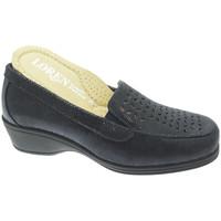 Pantofi Femei Mocasini Calzaturificio Loren LOK4013bl blu