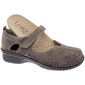 Pantofi Femei Balerin și Balerini cu curea Calzaturificio Loren LOM2313tabo tortora