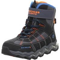 Pantofi Copii Drumetie și trekking Skechers Kinderstiefel Polar Rush Negre,Portocalie