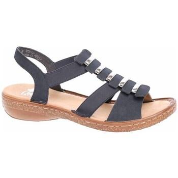 Pantofi Femei Sandale  Rieker 6285014 Negre,Cafenii