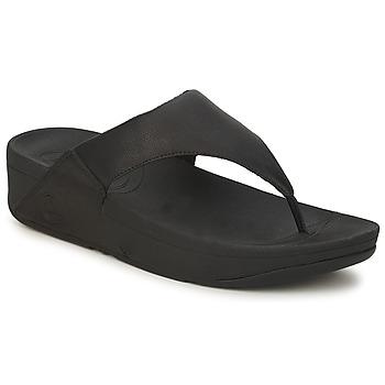 Pantofi Femei  Flip-Flops FitFlop LULU LEATHER Negru