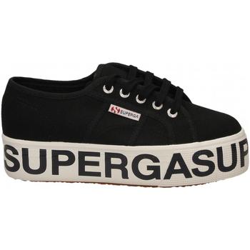 Pantofi Femei Pantofi sport Casual Superga 2790-COTW OUTSOLE LETTERING 999-black