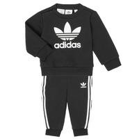 Îmbracaminte Copii Compleuri copii  adidas Originals CREW SET Negru