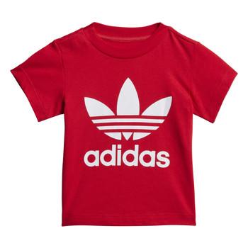Îmbracaminte Copii Tricouri mânecă scurtă adidas Originals TREFOIL TEE Roșu