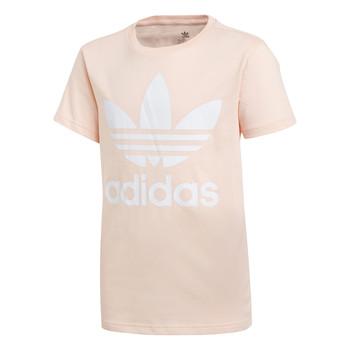 Îmbracaminte Fete Tricouri mânecă scurtă adidas Originals TREFOIL TEE Roz