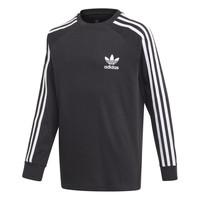 Îmbracaminte Băieți Tricouri cu mânecă lungă  adidas Originals 3STRIPES LS Negru