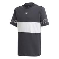 Îmbracaminte Băieți Tricouri mânecă scurtă adidas Originals PANEL TEE Gri / Alb