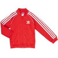 Îmbracaminte Băieți Bluze îmbrăcăminte sport  adidas Originals SST TRACKTOP Roșu