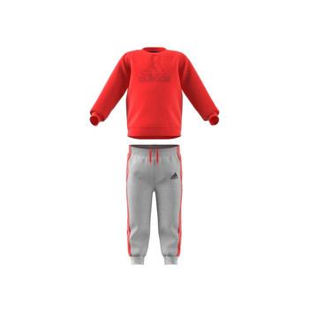 Îmbracaminte Copii Compleuri copii  adidas Performance MH LOG JOG FL Roșu / Gri