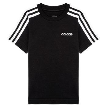 Îmbracaminte Băieți Tricouri mânecă scurtă adidas Performance YB E 3S TEE Negru