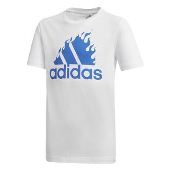 Îmbracaminte Băieți Tricouri mânecă scurtă adidas Performance JB BOS GRAPH Alb