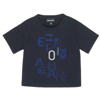 Îmbracaminte Fete Tricouri mânecă scurtă Emporio Armani 6H3T7R-2J4CZ-0926 Albastru