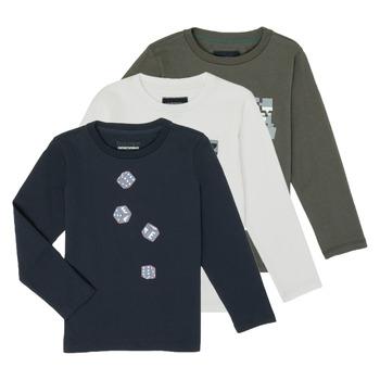 Îmbracaminte Băieți Tricouri cu mânecă lungă  Emporio Armani 6H4D01-4J09Z-0564 Multicolor