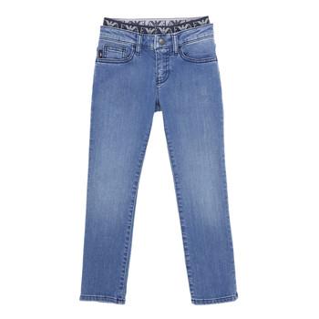 Îmbracaminte Băieți Jeans slim Emporio Armani 6H4J17-4D29Z-0942 Albastru