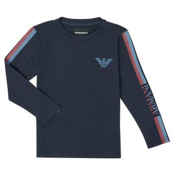 Îmbracaminte Băieți Tricouri cu mânecă lungă  Emporio Armani 6H4TJD-1J00Z-0920 Bleumarin