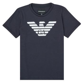 Îmbracaminte Băieți Tricouri mânecă scurtă Emporio Armani 8N4T99-1JNQZ-0939 Albastru