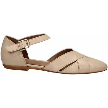 Pantofi Femei Balerin și Balerini cu curea Hundred 100 VITELLINO ecru