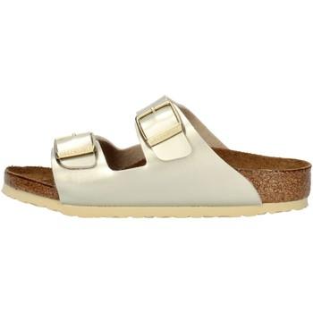 Pantofi Fete Papuci de vară Birkenstock 1014841 Platinum