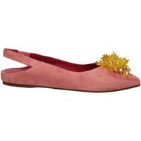 Pantofi Femei Balerin și Balerini cu curea 181 GAROFANO CAMOSCIO rosa