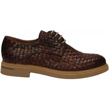 Pantofi Bărbați Pantofi Derby Brecos INTRECCIATO brandy