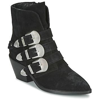 Pantofi Femei Ghete Pepe jeans WESTERN W BUCKLE Negru