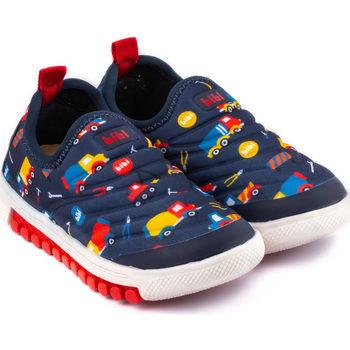 Pantofi Băieți Pantofi Slip on Bibi Shoes Pantofi Sport Baieti Bibi Roller New Trucks Bleumarin