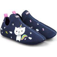 Pantofi Fete Papuci de casă Bibi Shoes Rezerva Pantof Bibi 2WAY Catcorn Bleumarin