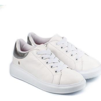 Pantofi Fete Pantofi sport Casual Bibi Shoes Pantofi Fete Bibi Glam Albi/Silver Alb