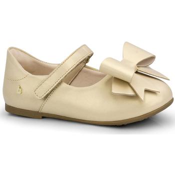 Pantofi Fete Balerin și Balerini cu curea Bibi Shoes Balerini Fete Bibi Anjos Mini Sampanie cu Funda Roz