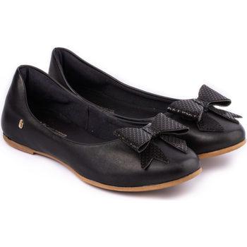 Pantofi Fete Balerin și Balerini cu curea Bibi Shoes Balerini Fete Bibi Renascence Kids Black cu Funda Negru