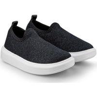 Pantofi Fete Pantofi Slip on Bibi Shoes Pantofi Fete Bibi Glam Black Negru