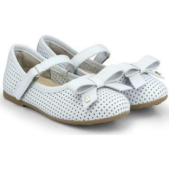 Pantofi Fete Balerin și Balerini cu curea Bibi Shoes Balerini Fete Bibi Anjos Mini Ice Perforati Bleu