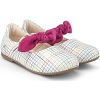 Pantofi Fete Balerin și Balerini cu curea Bibi Shoes Balerini Fete Bibi Anjos Mini Multicolor cu Funda Alb