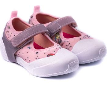 Pantofi Fete Balerin și Balerini cu curea Bibi Shoes Pantofi Fete Bibi 2WAY Happy Place Sugar Roz