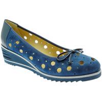 Pantofi Femei Balerin și Balerini cu curea Donna Soft DOSODS0770bl blu