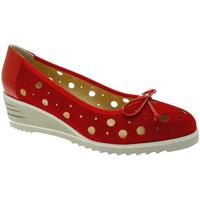 Pantofi Femei Balerin și Balerini cu curea Donna Soft DOSODS0770ro rosso