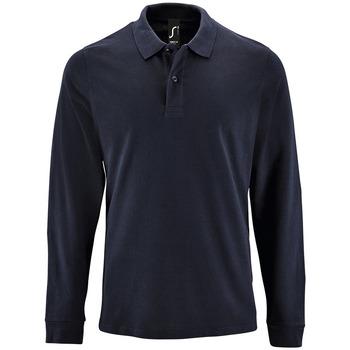 Îmbracaminte Bărbați Tricou Polo manecă lungă Sols PERFECT LSL COLORS MEN Azul