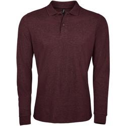 Îmbracaminte Bărbați Tricou Polo manecă lungă Sols PERFECT LSL COLORS MEN Violeta