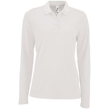 Îmbracaminte Femei Tricou Polo manecă lungă Sols PERFECT LSL COLORS WOMEN Blanco