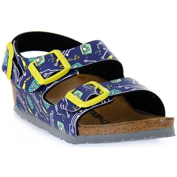 Pantofi Copii Sandale  Birkenstock MILANO ROBOTS BLUE CALZ S Blu